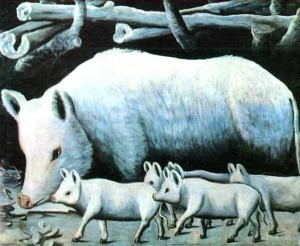 Art-Folk-Art-Russian-Animal-Pig-and-piglets