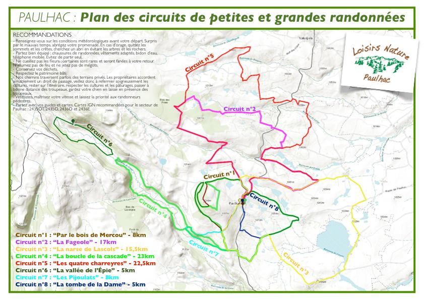 Plan des circuits